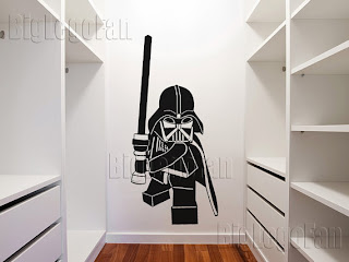 Lego Darth Vader minifig wall sticker
