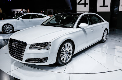 2014 Audi A8 TDI front three quarter