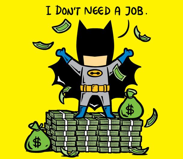 Super heróis em empregos normais