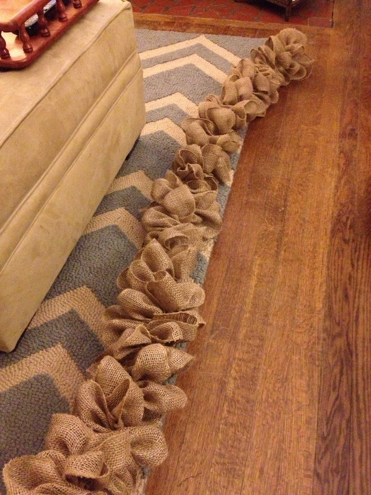 southern diy diary burlap garland how to