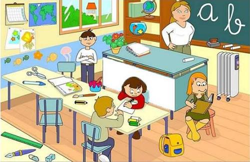 Clase de aurora unidad 1 la clase for Dependencias de la escuela