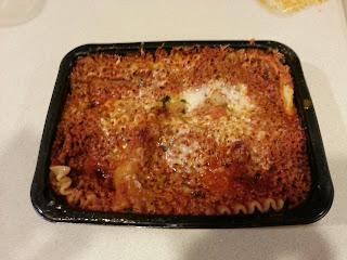 cooked lasagna dish