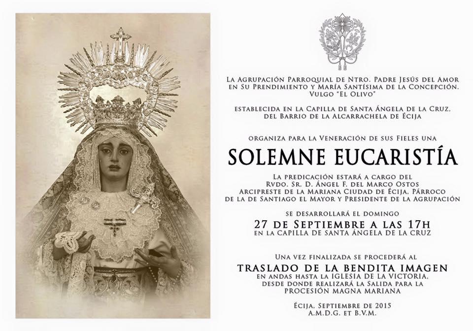 Pasión y Glorias de Écija: Mañana, traslado de María Santísima de la ...
