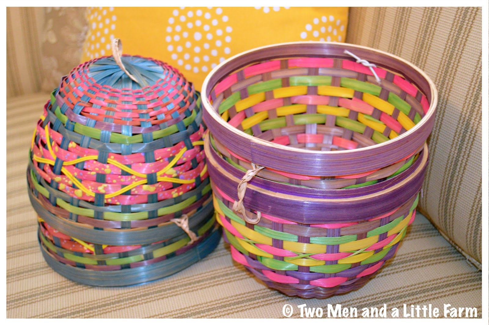 Two Men and a Little Farm: VINTAGE EASTER BASKETS, THRIFT ...