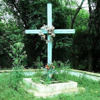 Cruz marca o Cemitério Paraguaio de Borja.