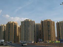 Project view of Ajman Al khor tower 3BR with hall and maid room available for rent 45000 per  Ajman Property finder year