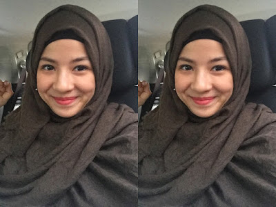 hijab simple ala Natasha Rizki