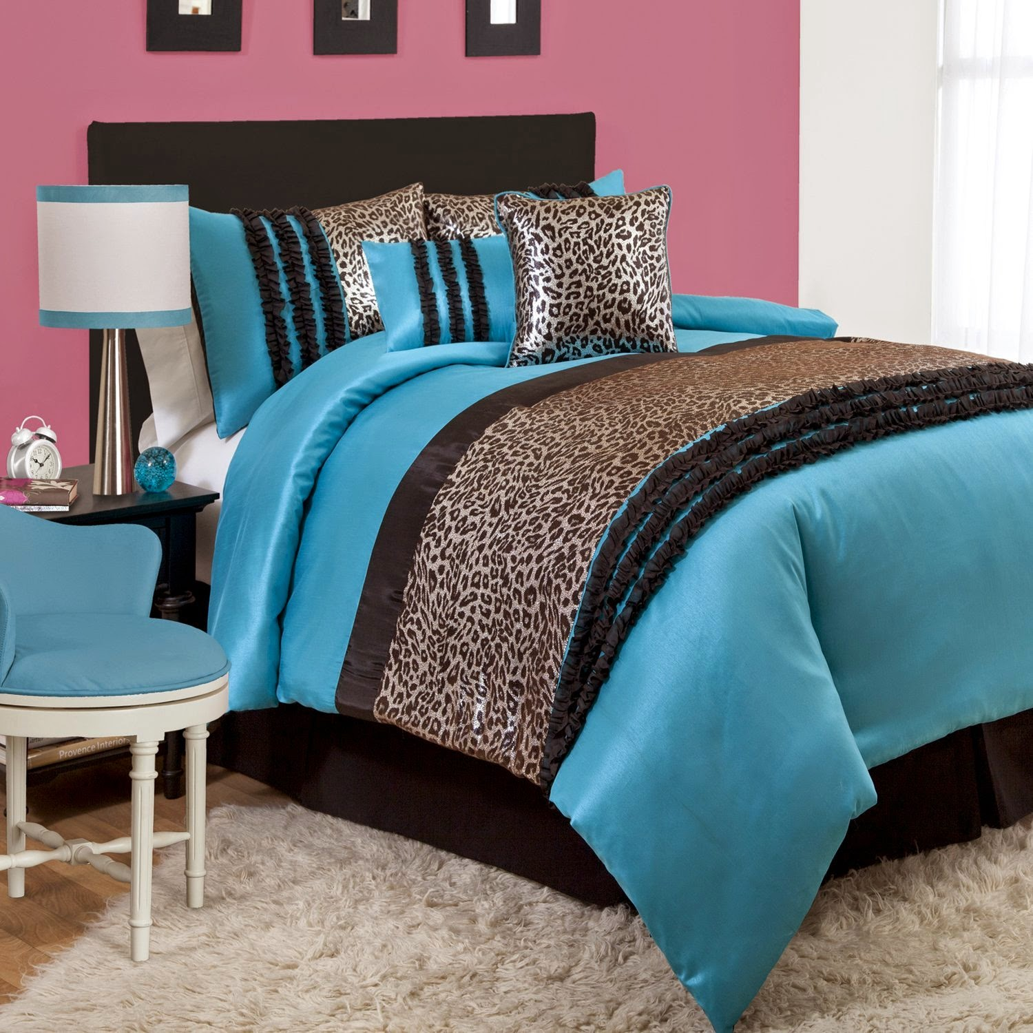 Zebra print bedroom set - Bedroom Decor Ideas Designs Ten Animal Pattern Bedding Lush Decor Kenya Comforter Set Leopard Print