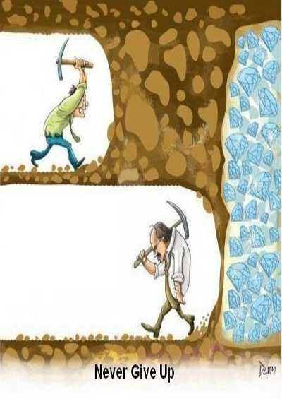 kata-kata inspirasi dan semangat - never give up