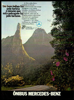 propaganda Ônibus Mercedes-Benz - 1973. 1973. brazilian advertising cars in the 70. os anos 70. história da década de 70; Brazil in the 70s; propaganda carros anos 70; Oswaldo Hernandez;