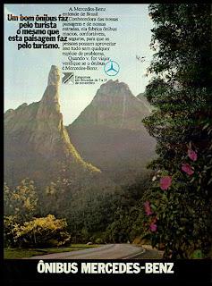 propaganda Ônibus Mercedes-Benz - 1973. 1973. brazilian advertising cars in the 70. os anos 70. história da década de 70; Brazil in the 70s; propaganda carros anos 70; Oswaldo Hernandez;