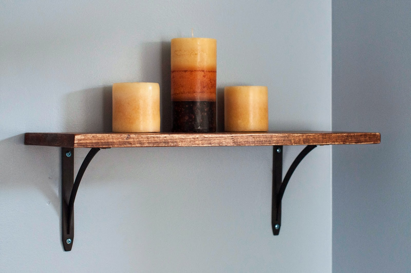 West Elm Hack, Weathered shelf, Reclaimed wood shelf