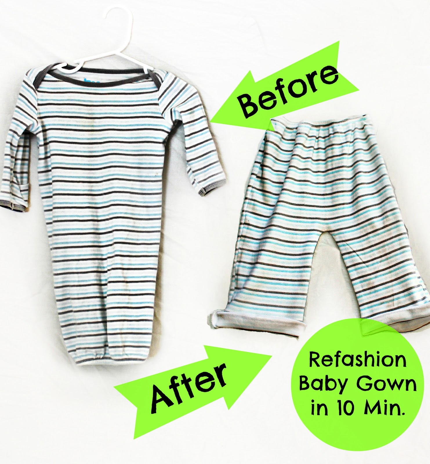 My Life on the Divide: How to refashion a Baby Gown into Toddler Pants