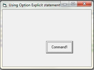 showing the use of option explicit statement