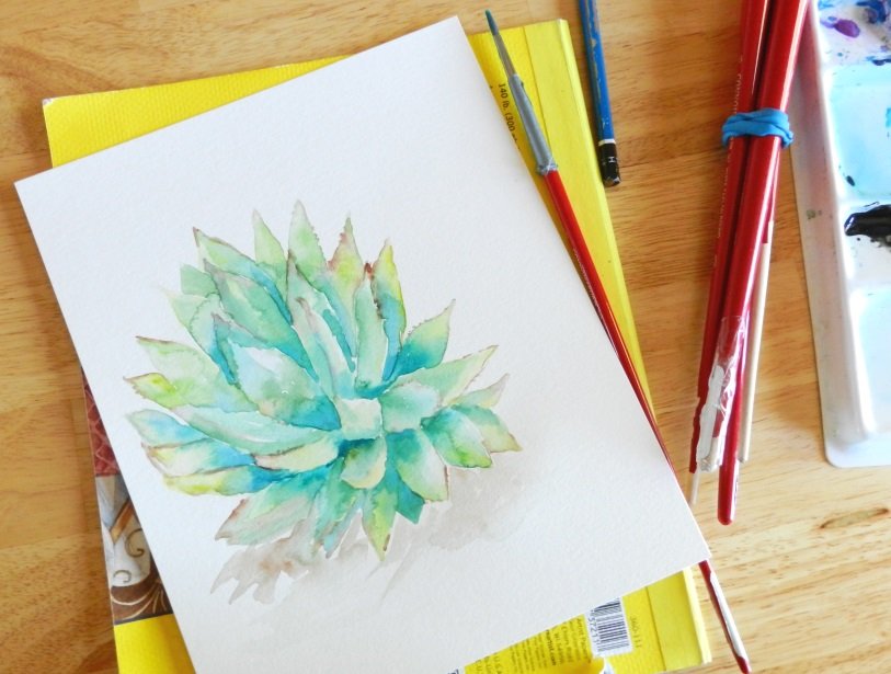 Grow CreativeWatercolor Cactus