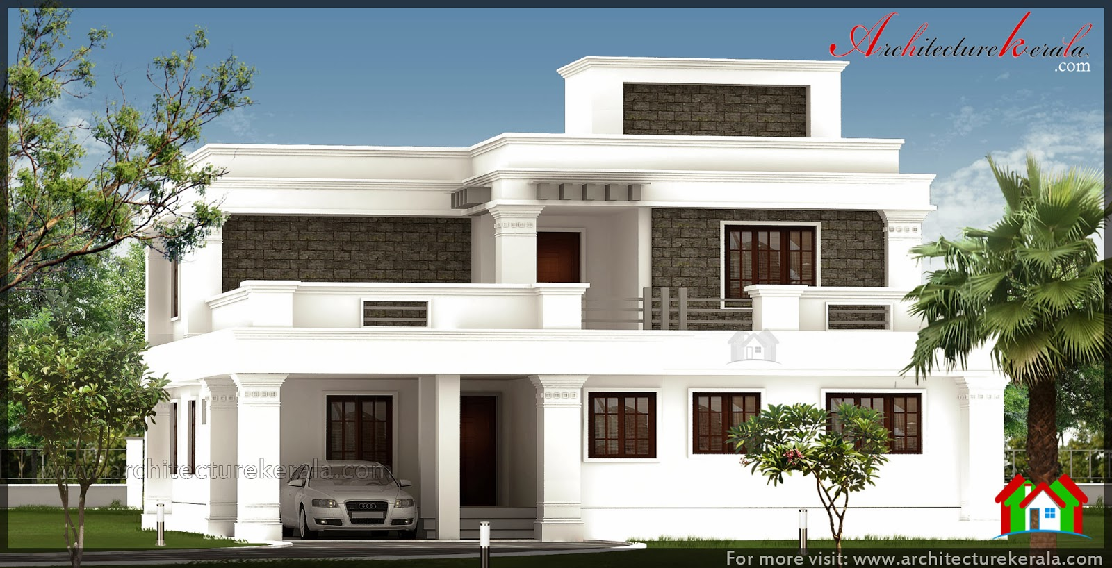 2400 square feet house design architecture kerala for Modern house plans 2400 sq ft