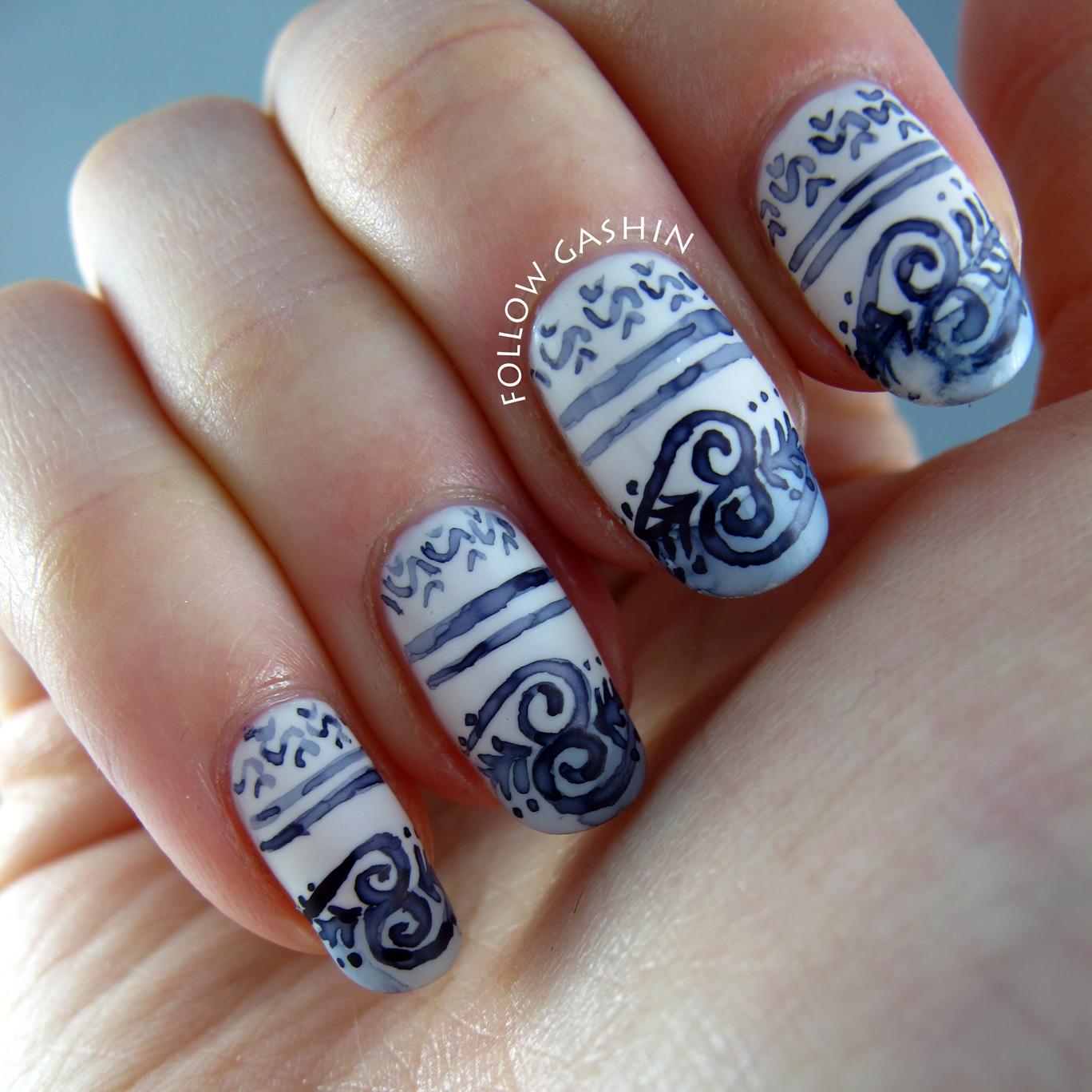Follow gashin wedgwood china nail art i prinsesfo Images