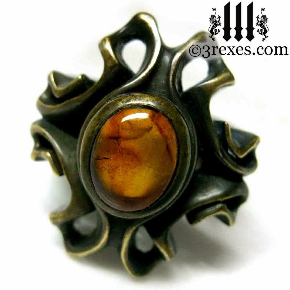 empress vampire ring with amber