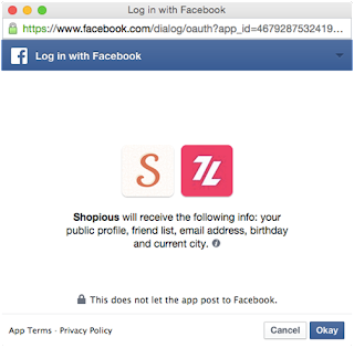 Tampilan Konfirmasi Akun Facebook Pertama