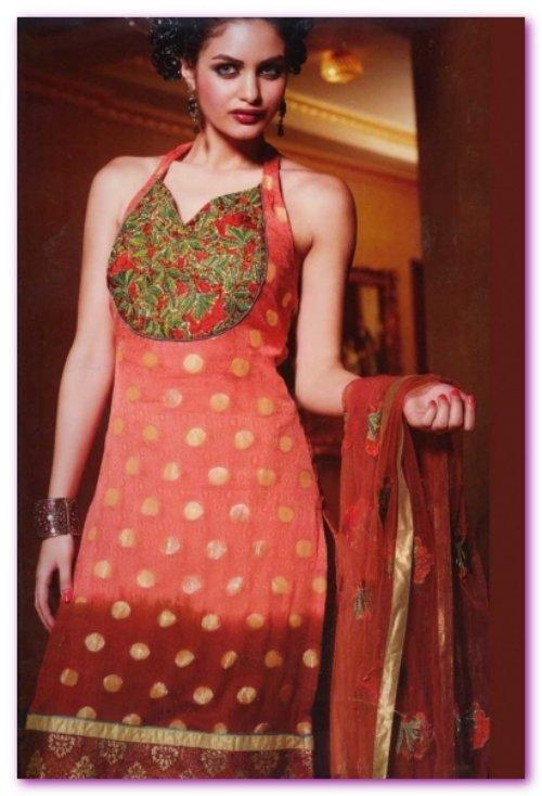 traditional shalwar kameez with neck designs 201314