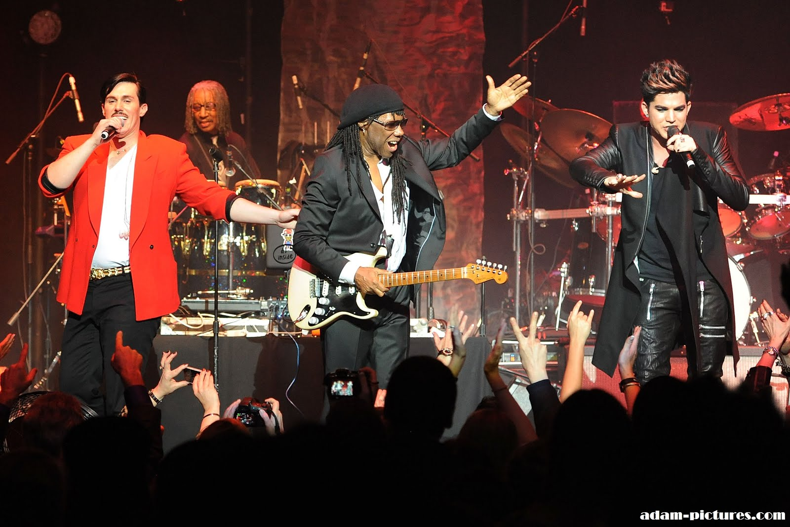 Adam Lambert, Nile Rodgers, Sam Sparro