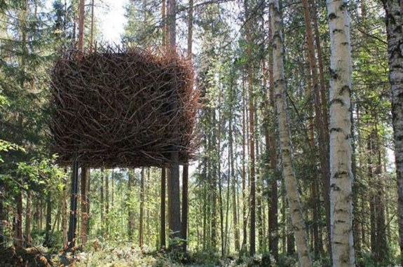The Bird's Nest Tree House — Sweden