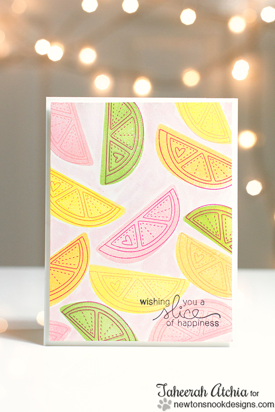 Fruit card by Taheerah Atchia | Sweet Summer Stamp Set | Newton's Nook Designs