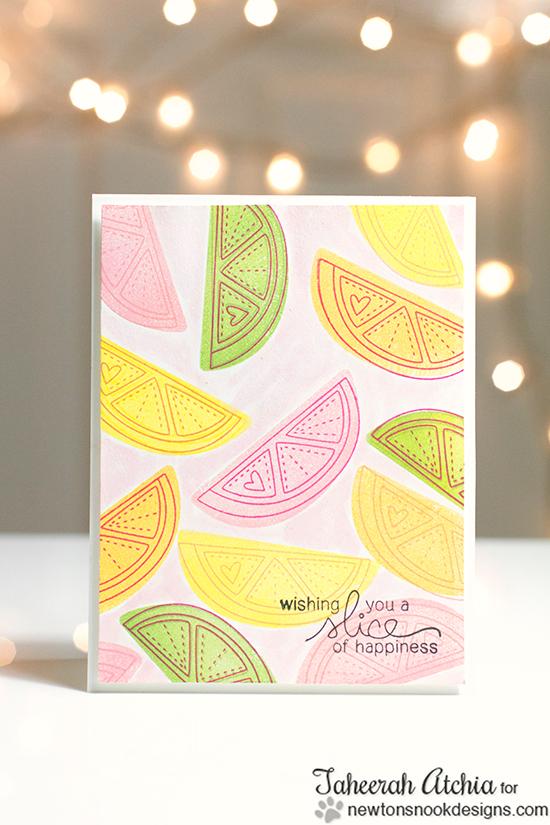 Fruit card by Taheerah Atchia | Sweet Summer Stamp Set | Newton's Nook Designs