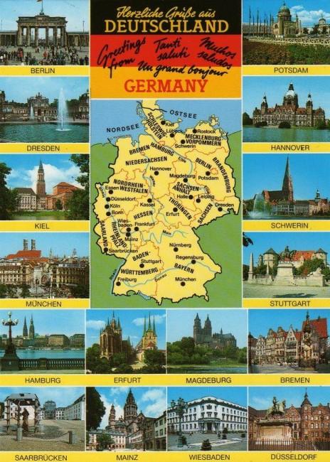 города Германии карта