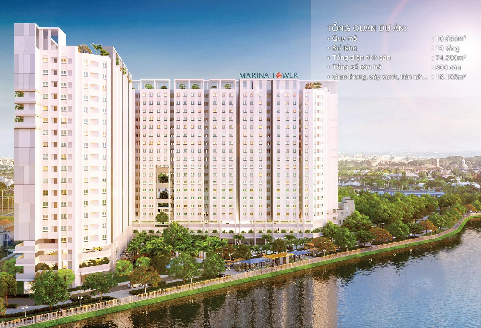 MARINA riverside - Căn hộ xanh tại Khu Bắc Sài Gòn