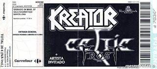 entrada de concierto de kreator