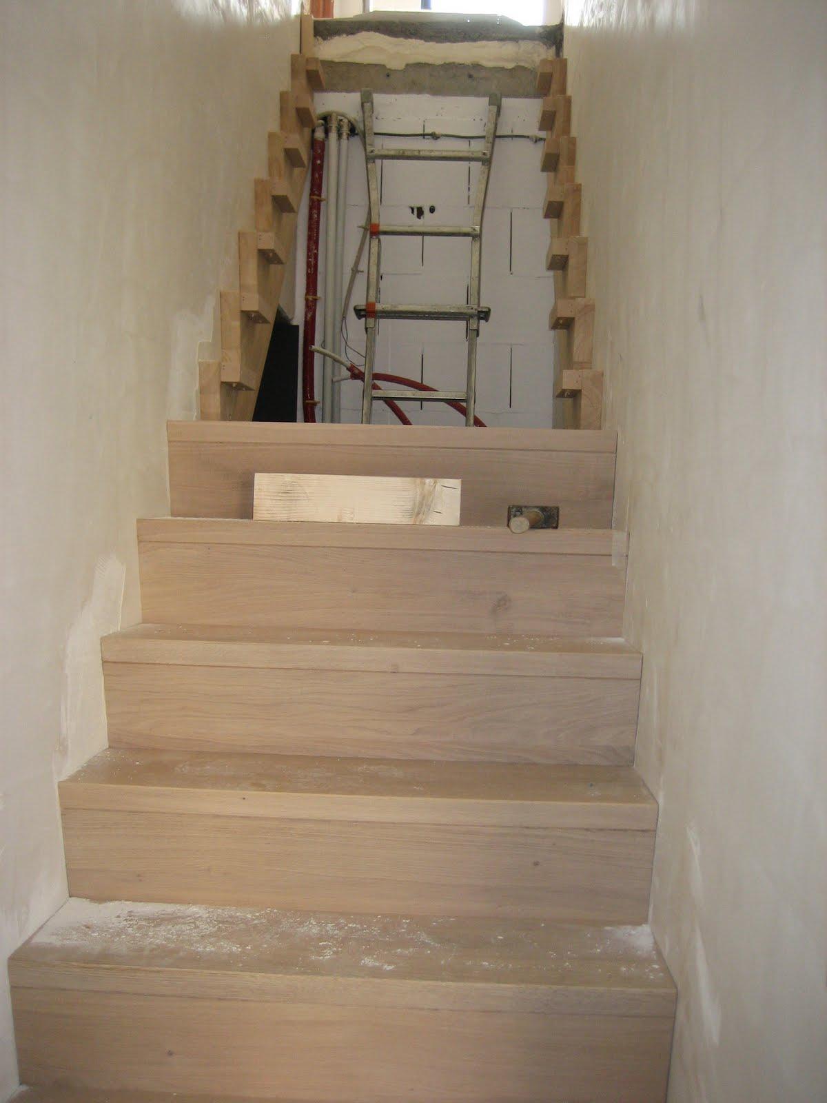 Voor de trap is gekozen voor een Z-trap in eik, afgewerkt met de kleur ...