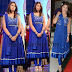 Richa Gangopadhyay Designer Blue Salwar