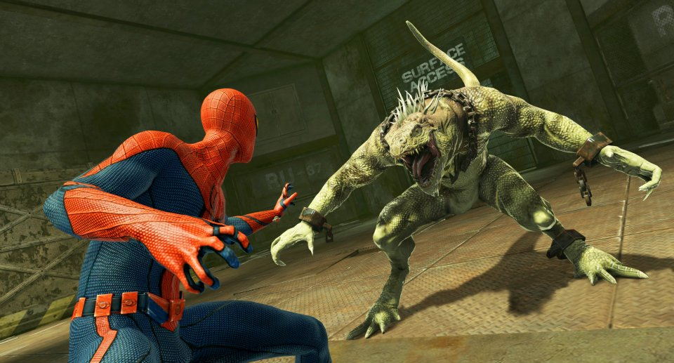 The Amazing Spider-Man Game 2012 Spider-Man versus Iguana