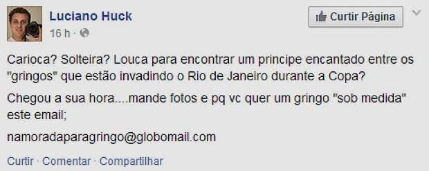 O apresentador do Caldeirão do Huck da rede Globo