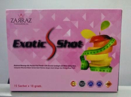 exotic slim shot zarraz paramedical, minuman kurus zarraz, kandungan exotic slim shot, ubat kurus paling berkesan, produk kurus paling berkesan