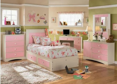 desain kamar tidur cantik untuk anak perempuan gambar