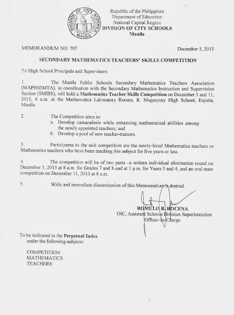 Department of Education Manila