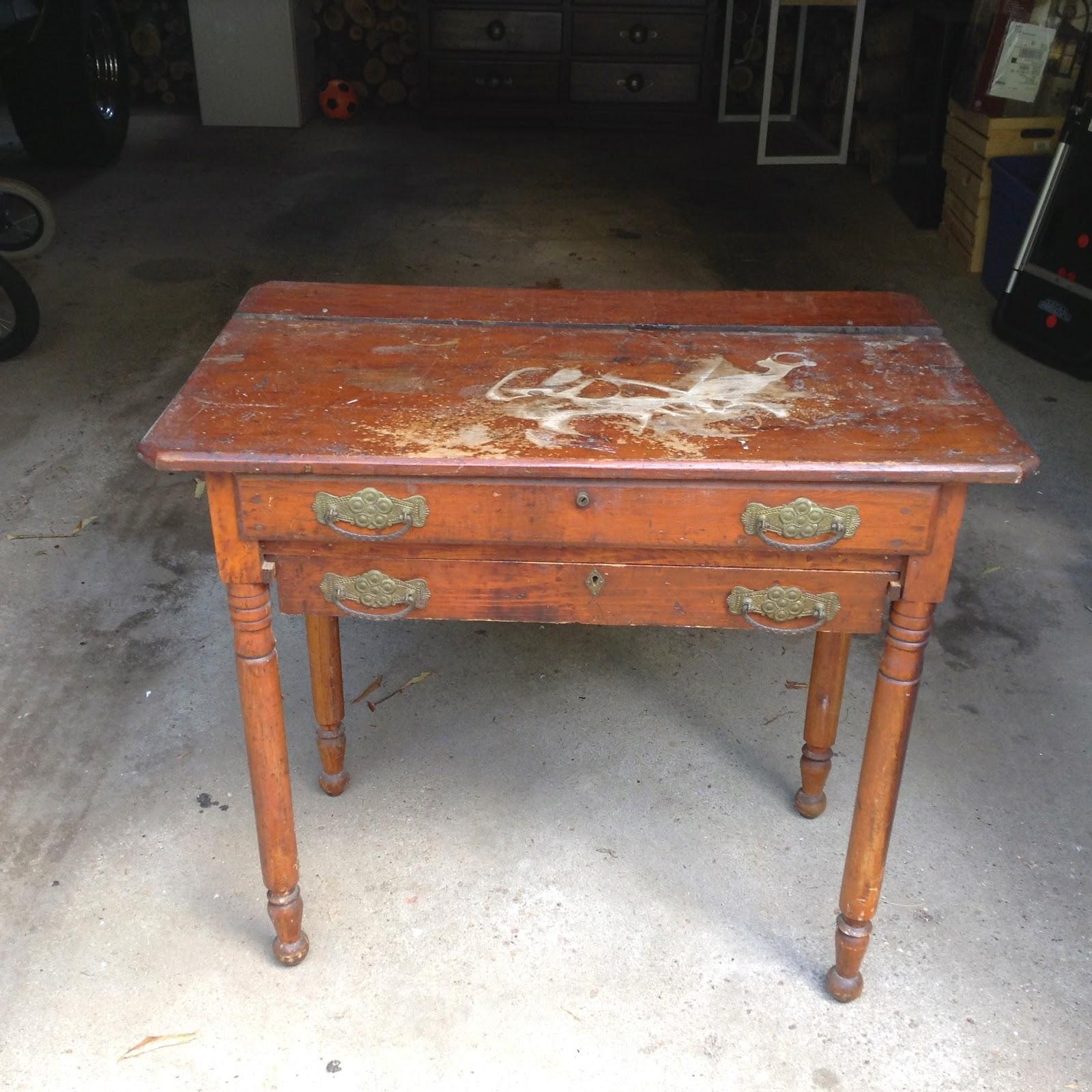 DIY Refinish an Old Table hello life