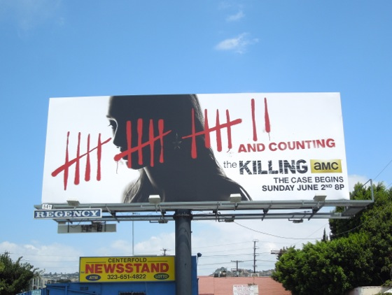 Killing season 3 tally marks billboard