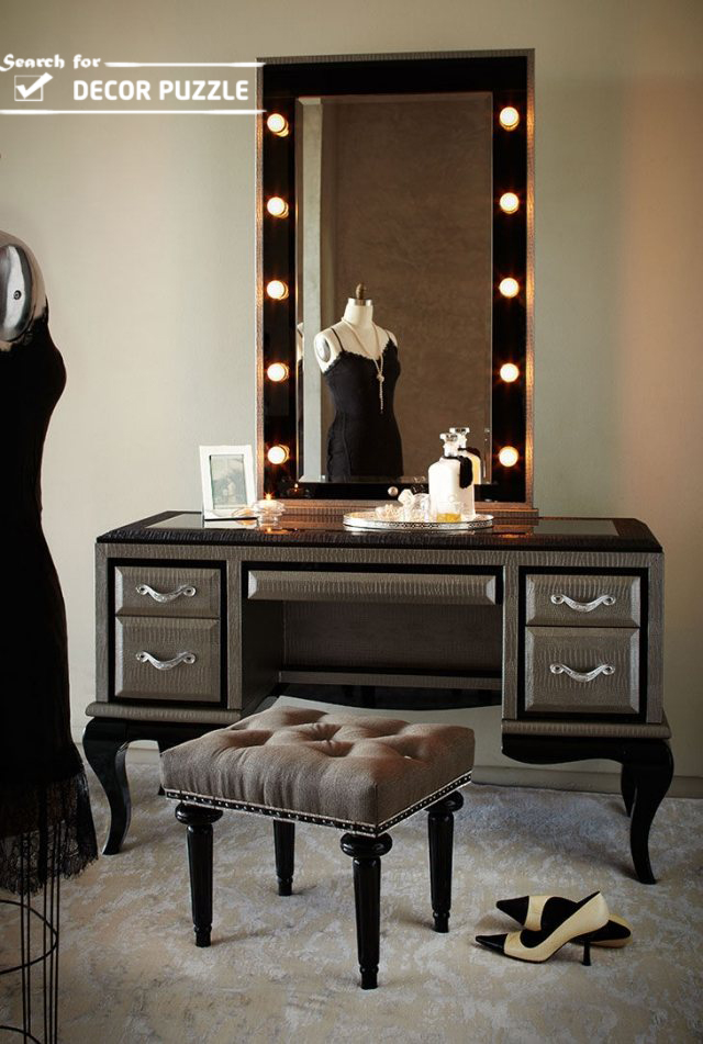 Vanity With Lights And Chair : 25 dressing table ideas to transform your bedroom