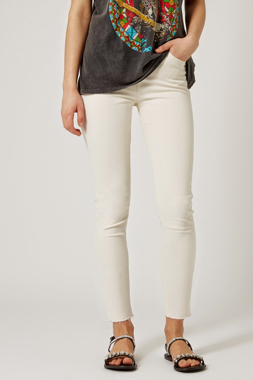 cream skinny jeans, topshop cream jeans,