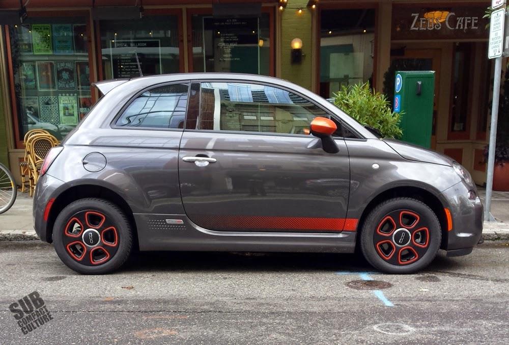 2014 Fiat 500e downtown Portland, Oregon