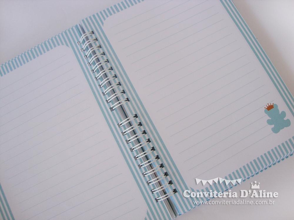 caderno de assinaturas personalizado