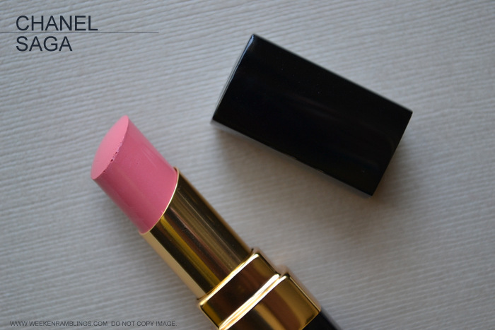 Rouge Coco Shine Pink Lipstick Saga 79 Avant-Premiere de Chanel Makeup Collection Summer 2013 Photos Swatch FOTD Looks Review Indian Darker Skin Beauty Blog