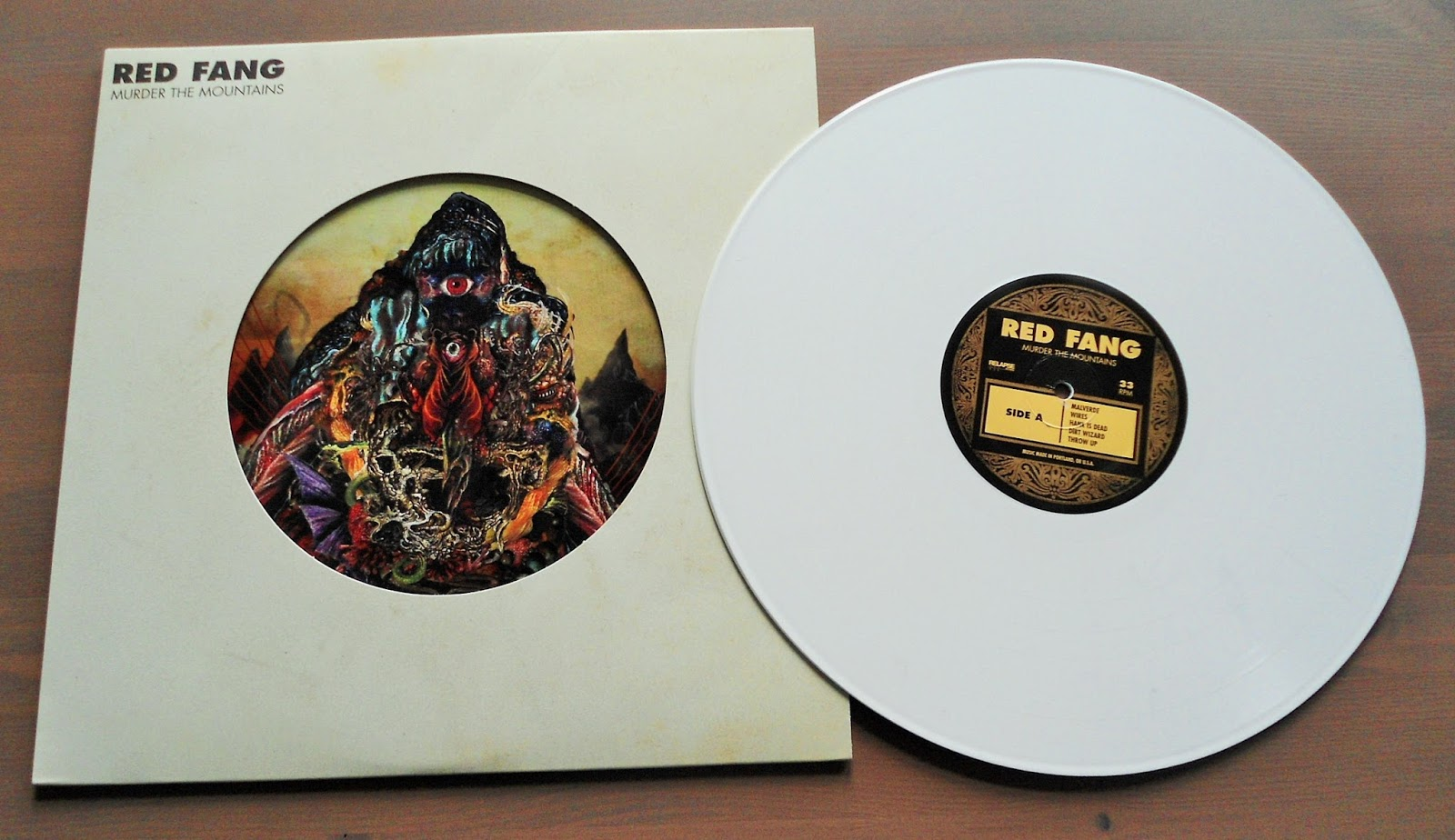 hardcore/metal vinyl: red fang - murder the mountains