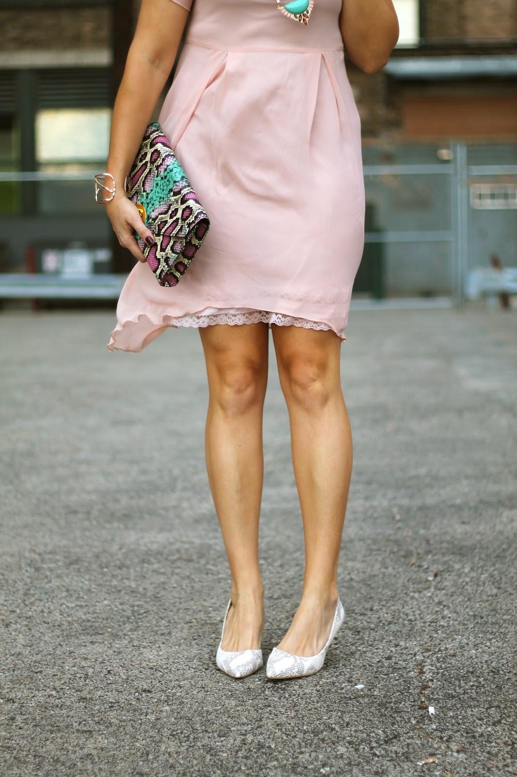 vintage, slip, pink