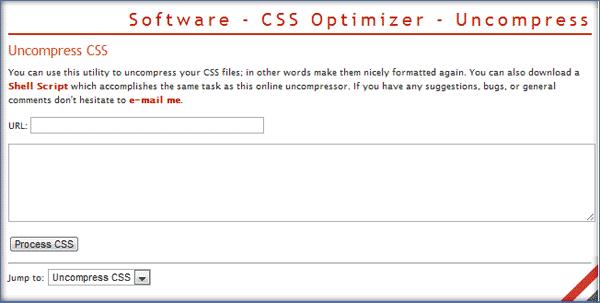 Uncompress CSS