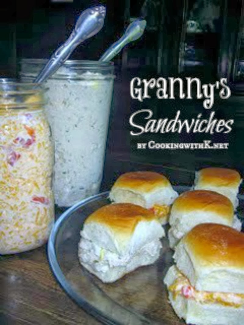 Granny's Chicken Salad and Pimento Cheese Sandwiches