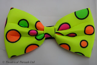 Yellow Spotty Bow Tie from Theatrical Threads Ltd